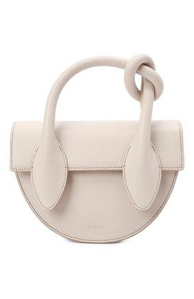 Женская сумка dolores YUZEFI кремвого цвета, арт. YUZIC0-HB-DL-01   Фото 1