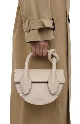 Женская сумка dolores YUZEFI кремвого цвета, арт. YUZIC0-HB-DL-01   Фото 2