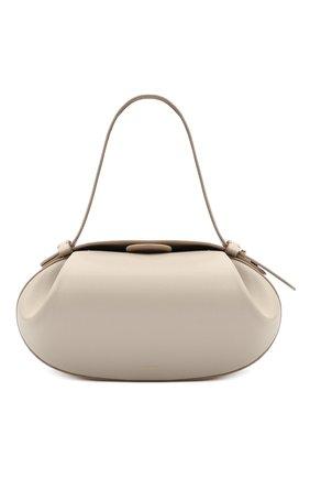 Женская сумка loaf YUZEFI кремвого цвета, арт. YUZIC0-HB-L0-01 | Фото 1 (Материал: Натуральная кожа; Ремень/цепочка: На ремешке; Размер: medium; Сумки-технические: Сумки top-handle)