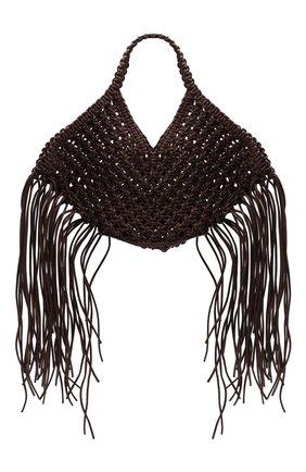 Женская сумка basket YUZEFI темно-коричневого цвета, арт. YUZPF21-SW-03   Фото 1