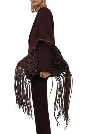 Женская сумка basket YUZEFI темно-коричневого цвета, арт. YUZPF21-SW-03   Фото 2