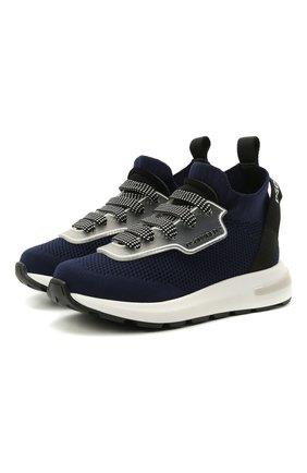 Детские кроссовки DSQUARED2 синего цвета, арт. 68555/T0MAIA/NAKAI/18-27 | Фото 1