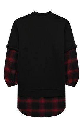 Детское хлопковое платье N21 черного цвета, арт. N21198/N0177/N21D57F | Фото 2