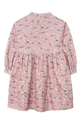 Детское хлопковое платье IL GUFO светло-розового цвета, арт. A21VL451C4074/10A-12A | Фото 2