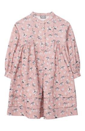 Детское хлопковое платье IL GUFO светло-розового цвета, арт. A21VL451C4074/2A-4A | Фото 1