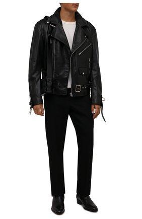 Мужская кожаная куртка VETEMENTS черного цвета, арт. UA52JA910BL 2470/M | Фото 2