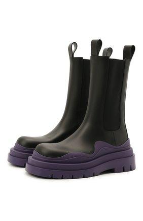 Женские кожаные ботинки bv tire BOTTEGA VENETA фиолетового цвета, арт. 630297/VBS50 | Фото 1