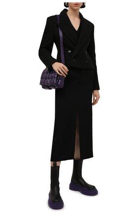 Женские кожаные ботинки bv tire BOTTEGA VENETA фиолетового цвета, арт. 630297/VBS50 | Фото 2