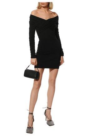 Женские кожаные босоножки the stretch BOTTEGA VENETA черного цвета, арт. 667206/V0GU1 | Фото 2 (Материал внутренний: Натуральная кожа; Каблук тип: Шпилька; Каблук высота: Высокий; Подошва: Плоская)