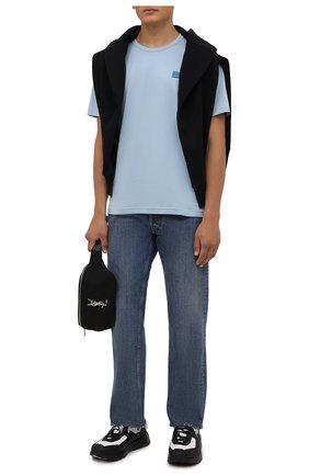 Мужские комбинированные кроссовки BERLUTI черного цвета, арт. S5548-001 | Фото 2