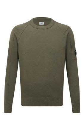Мужской шерстяной свитер C.P. COMPANY хаки цвета, арт. 11CMKN087A-005504A | Фото 1
