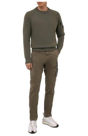 Мужской шерстяной свитер C.P. COMPANY хаки цвета, арт. 11CMKN087A-005504A | Фото 2
