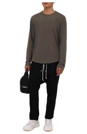 Мужские брюки из хлопка и шерсти RICK OWENS черного цвета, арт. RU02A5392/WCF | Фото 2