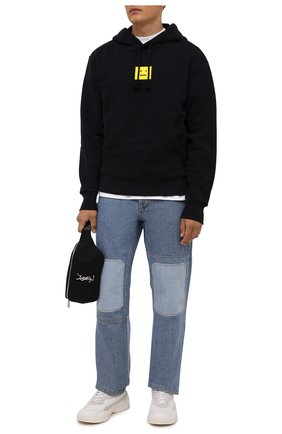 Мужской хлопковое худи ACNE STUDIOS черного цвета, арт. CI0073/M | Фото 2
