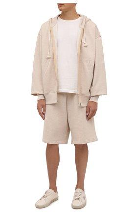 Мужские хлопковые шорты ACNE STUDIOS бежевого цвета, арт. CE0015/M | Фото 2