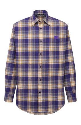 Мужская хлопковая рубашка ACNE STUDIOS фиолетового цвета, арт. CB0031/M | Фото 1