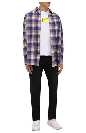 Мужская хлопковая рубашка ACNE STUDIOS фиолетового цвета, арт. CB0031/M | Фото 2