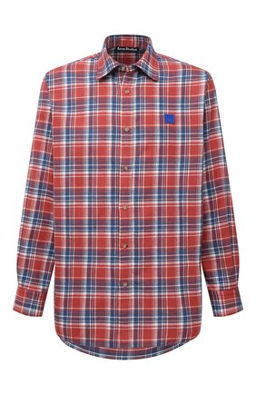 Мужская хлопковая рубашка ACNE STUDIOS красного цвета, арт. CB0031/M | Фото 1