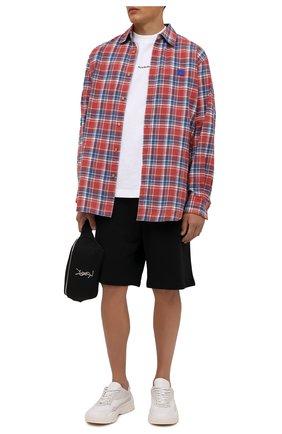 Мужская хлопковая рубашка ACNE STUDIOS красного цвета, арт. CB0031/M | Фото 2