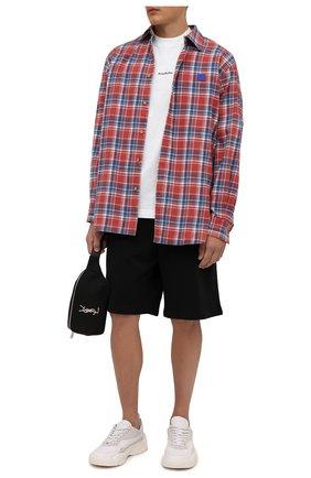 Мужская хлопковая футболка  ACNE STUDIOS белого цвета, арт. BL0278 | Фото 2
