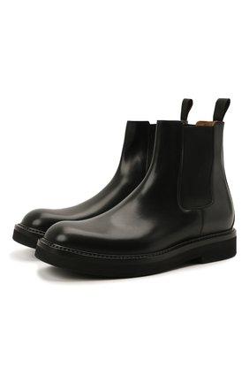 Мужские кожаные челси W.GIBBS черного цвета, арт. 0537002/2535 | Фото 1