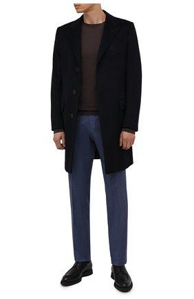 Мужские кожаные дерби BRIONI черного цвета, арт. QE2A0L/P7731   Фото 2 (Материал внутренний: Натуральная кожа; Стили: Классический)