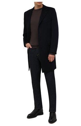 Мужские кожаные ботинки BRIONI черного цвета, арт. QQC30L/09712 | Фото 2 (Материал внутренний: Натуральная кожа; Материал утеплителя: Натуральный мех; Мужское Кросс-КТ: Ботинки-обувь, зимние ботинки, Дезерты-обувь; Подошва: Плоская)