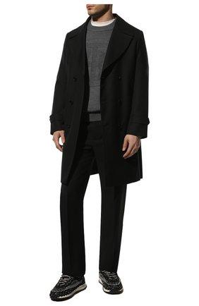 Мужские текстильные кроссовки crochet VALENTINO черного цвета, арт. WY2S0E41/ZXB | Фото 2 (Материал внутренний: Текстиль; Материал внешний: Текстиль; Стили: Гранж; Подошва: Массивная)
