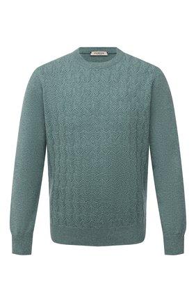 Мужской кашемировый свитер FIORONI бирюзового цвета, арт. MK23020A1 | Фото 1