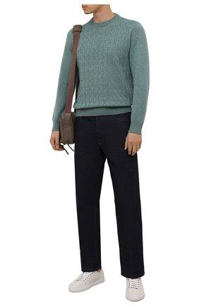 Мужской кашемировый свитер FIORONI бирюзового цвета, арт. MK23020A1 | Фото 2