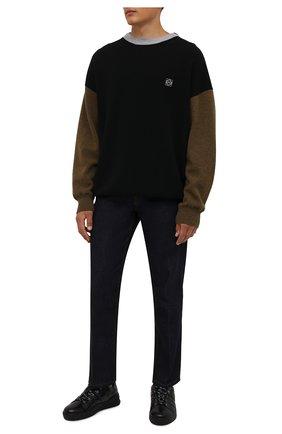 Мужские кожаные кеды BOGNER черного цвета, арт. 12140261/C0L0GNE 8 | Фото 2 (Материал внутренний: Натуральная кожа; Подошва: Массивная)