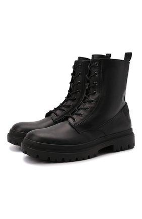 Мужские кожаные ботинки BOGNER черного цвета, арт. 12141621/CHESA ALPINA M 2 | Фото 1