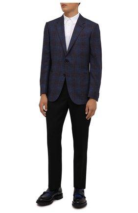 Мужские кожаные монки SANTONI темно-синего цвета, арт. MCCG17753MM4HBZNN84 | Фото 2