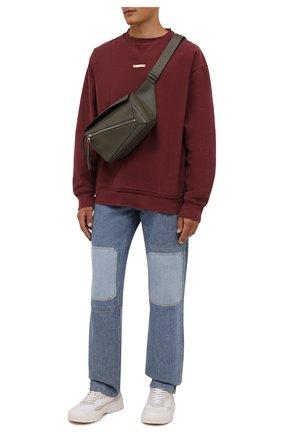 Мужской хлопковый свитшот MAISON MARGIELA бордового цвета, арт. S50GU0178/S25520 | Фото 2