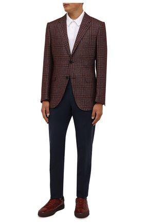 Мужские кожаные кеды SANTONI бордового цвета, арт. MBGT21554TCHRG0NS20 | Фото 2
