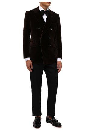 Мужские кожаные лоферы SANTONI черного цвета, арт. MCCG16465SB3EVRTN01 | Фото 2