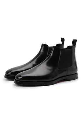 Мужские кожаные челси SANTONI черного цвета, арт. MCCG17802SG3AVRTN01 | Фото 1