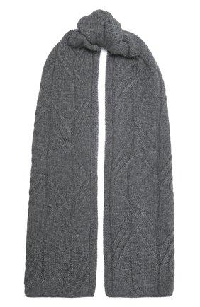Мужской кашемировый шарф LORO PIANA серого цвета, арт. FAL9444 | Фото 1