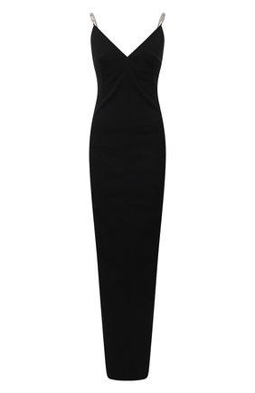 Женское платье из хлопка и вискозы RICK OWENS черного цвета, арт. RP02A7517/GG   Фото 1