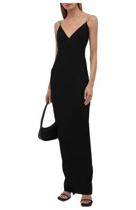 Женское платье из хлопка и вискозы RICK OWENS черного цвета, арт. RP02A7517/GG   Фото 2