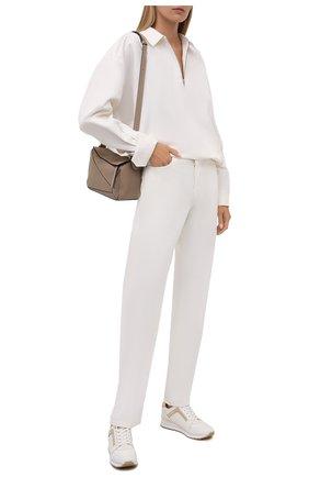 Женские комбинированные кроссовки billie MICHAEL MICHAEL KORS кремвого цвета, арт. 43T1BIFS2Y | Фото 2
