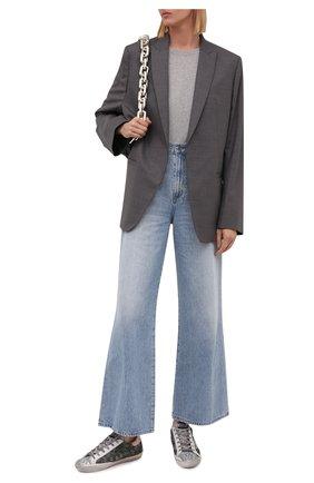 Женские комбинированные кеды superstar GOLDEN GOOSE DELUXE BRAND хаки цвета, арт. GWF00101.F001638 | Фото 2
