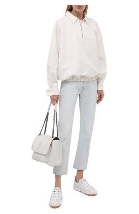Женские кожаные кеды stardan GOLDEN GOOSE DELUXE BRAND белого цвета, арт. GWF00130.F002197 | Фото 2