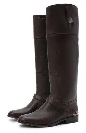 Женские кожаные сапоги charlie GOLDEN GOOSE DELUXE BRAND темно-коричневого цвета, арт. GWF00236.F002300 | Фото 1
