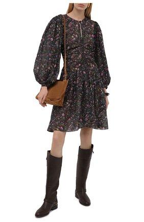 Женские кожаные сапоги charlie GOLDEN GOOSE DELUXE BRAND темно-коричневого цвета, арт. GWF00236.F002300 | Фото 2