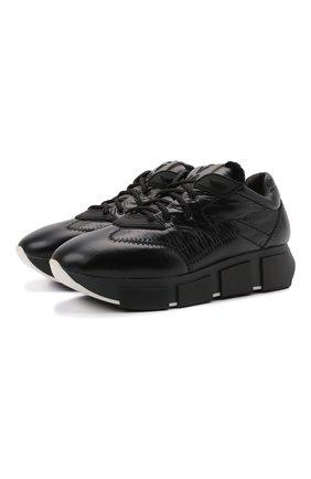 Женские текстильные кроссовки VIC MATIE черного цвета, арт. 1W3103D.U02W050101   Фото 1