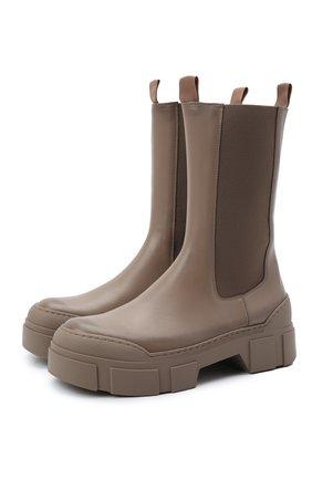 Женские комбинированные ботинки VIC MATIE темно-бежевого цвета, арт. 1W3152D.V14W890305   Фото 1