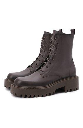 Женские кожаные ботинки VIC MATIE темно-серого цвета, арт. 1W3350D.W60W890340   Фото 1