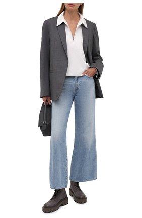 Женские кожаные ботинки VIC MATIE темно-серого цвета, арт. 1W3350D.W60W890340   Фото 2
