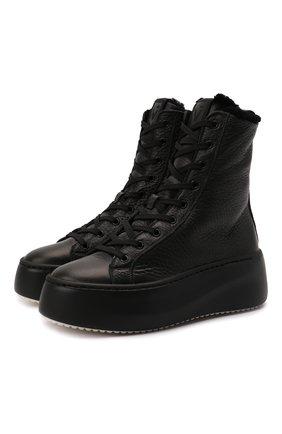 Женские кожаные ботинки VIC MATIE черного цвета, арт. 1W3405D.W62W280101   Фото 1